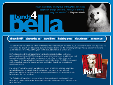 Screenshot from bands4bella.com